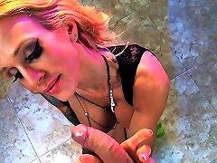 Blonde Milf Sarah Shows Off Her Cocksucking Skills Porn 48