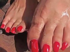 Fuck My Mom Pierced Cunt Cum On Painted Toes