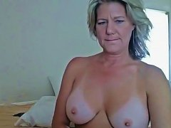A Mature Woman Has Tan Lines
