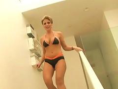 Bikini Clad Cougar With Fantastic Juggs Enjoying A Hardcore Anal Fuck