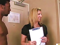 Sarah The Apartment Manager Gets Destroyed By Two Black