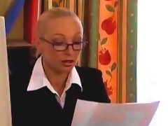 French Milf Gets An Office Fucking B R