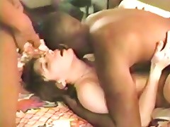 Yummy Housewife Gets Her Black Dick Gangbang Fantasy To