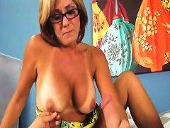 Horny Milf Strokes A Fat Cock Free Milf Cock Porn Video Ee