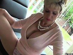 Unfaithful British Milf Lady Sonia Displays Her Enormous Tit Nuvid