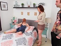 Hottest Threesome Busty Milf Sara Jay Fucks Her Guests