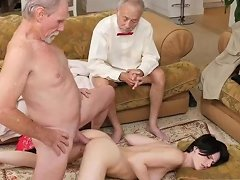 Old Boss Teen Office And French Men First