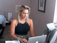 Topless Office Worker
