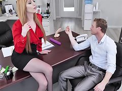 Lauren Phillips Adores When Her Boss Destroys Her Cunt In The Office