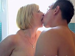 Lusty Granny Gets Jizzed On After Missionary