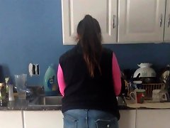Wife's Ass In Jeans