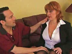 Redhead Mature Is Eaten Out And Fucked By A Lucky Stud